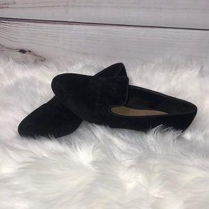Tahari Black Paisley Felt Frankie Flats Loafers